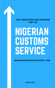 Nigerian Customs Past Questions and answers Pdf Cover Page