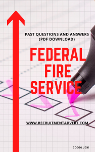 fire service past questions pdf