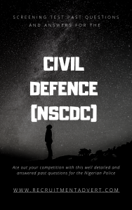 Civil defence past questions